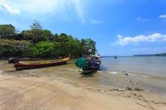 使构成hdr海岛kamala普吉岛被处理的方形泰国靠岸 免版税库存照片