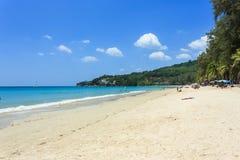 使构成hdr海岛kamala普吉岛被处理的方形泰国靠岸 库存图片