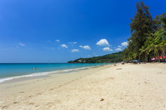 使构成hdr海岛kamala普吉岛被处理的方形泰国靠岸 免版税库存图片