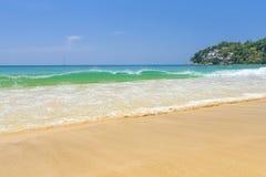 使构成hdr海岛kamala普吉岛被处理的方形泰国靠岸 库存照片
