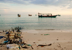 使柬埔寨靠岸 库存照片