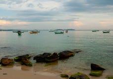 使柬埔寨靠岸 免版税库存图片