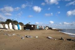 Thorpe海湾海滨人行道,在Southend-在海附近,艾塞克斯 免版税图库摄影
