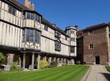 使法院,女王/王后`学院,剑桥,英国出家 库存图片