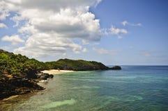 使洪都拉斯被隔离的热带靠岸 免版税库存图片