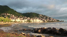 使海岛, ordu城市土耳其靠岸6月2016年, 股票视频