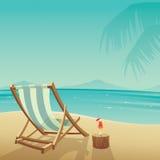 使海岸塞浦路斯地中海沙子石头夏天海浪靠岸 向量例证