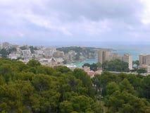 使海湾天蓝色, Cala Gat,马略卡海岛靠岸 库存图片