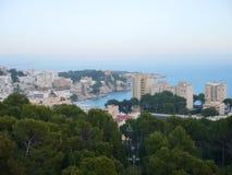 使海湾天蓝色, Cala Gat,马略卡海岛靠岸 库存照片
