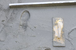 使混凝土光滑的Rigone 库存照片
