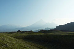 使火山环境美化 库存图片