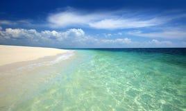 使热带靠岸 图库摄影