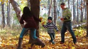 使用与儿子的年轻母亲在公园在 影视素材