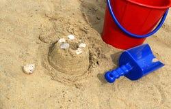使用与在海滩的沙子 库存图片