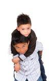 使用两个小西班牙的男孩,一运载 免版税库存照片