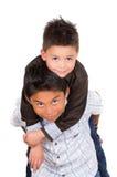 使用两个小西班牙的男孩,一运载 库存图片