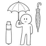 使用伞的人传染媒介  库存照片