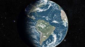 使用卫星图象,高度详细的3d回报 皇族释放例证