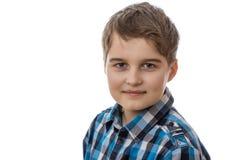 使用可视年轻人,穿蓝衣的男孩照相机设备数字式作用形成不是热图象红外做的设计照片纵向辐射实际热自计温度计 免版税图库摄影