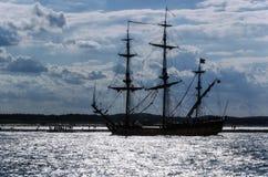 使用向量船的例证略写法准备好的航行 库存照片