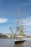 使用向量船的例证略写法准备好的航行 免版税库存照片