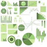 使用图表,设置元素、图表和商标 免版税库存照片