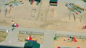 使用在儿童的游乐场的孩子 影视素材