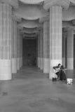 使用在公园Guell的音乐家 免版税图库摄影
