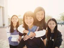 使用在学校的少年Students免版税库存图片