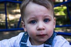 使用在操场的男婴 免版税图库摄影