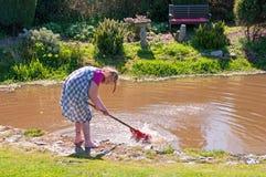使用在池塘 免版税库存图片