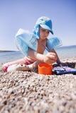 使用在海滩的逗人喜爱的子项 库存图片