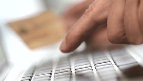 使用在网上信用卡财务往来 影视素材