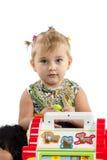 使用在难题的小女孩 库存照片