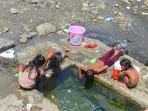 使用在Bandra孟买印度的孩子 图库摄影