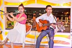 使用在Ho池氏明代,越南的音乐家 库存照片