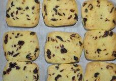 使用多士炉的烘烤曲奇饼在业余时间 免版税库存图片