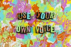 使用您自己声音讲话 向量例证