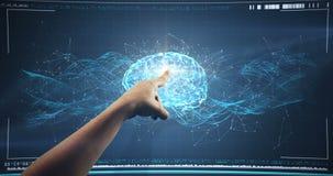 使用数字接口屏幕的手 影视素材