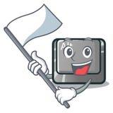 使用旗子在桌上的动画片alt按钮 皇族释放例证