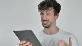 使用智能手机时,起反应对损失的年轻偶然人,当 股票录像