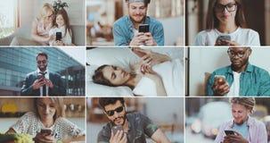使用智能手机的人们 影视素材