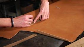使用标记的模板的Leathercrafter项目细节 影视素材