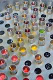 使用汁液的传统泰国冰棍儿制造商 免版税库存图片