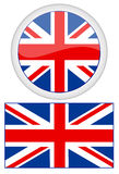使用波浪风,英国创建了标志标志振翼的梯度巨大滤网金属一集立场 库存例证
