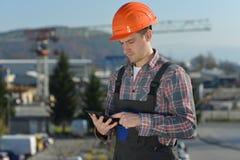 建造场所的工程师 库存图片