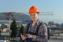 建造场所的工程师 库存照片