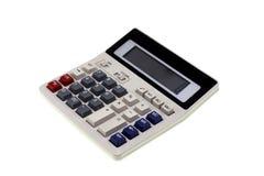 使用白色的添加背景基本的计算器减法 免版税库存照片