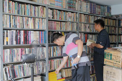 使用的书书店 图库摄影