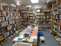 使用的书店内部 免版税库存照片